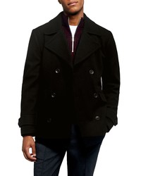 Topman Double Breasted Peacoat