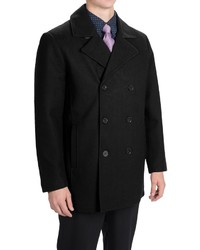 Tahari Double Breasted Peacoat Waterproof Insulated Wool Blend
