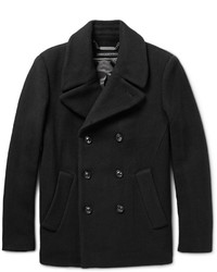 Marc by Marc Jacobs Double Breasted Wool Blend Peacoat