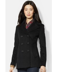 Double breasted wool blend peacoat medium 359371