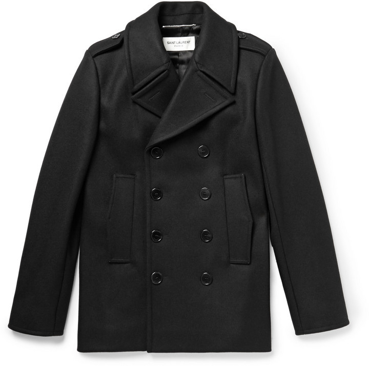 Laurent Breasted Wool Peacoat Coats Double Saint 5qxx6v