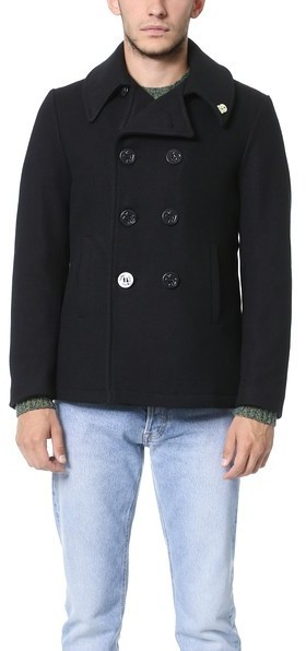 Gerald Stewart By Fidelity Wool Quilted Lined Peacoat   Where to ... : quilted pea coat - Adamdwight.com