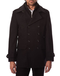 7 Diamonds Glasgow Wool Blend Peacoat