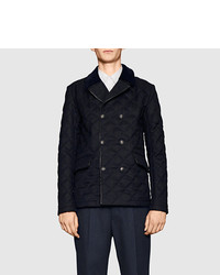 Gucci Quilted Pea Coat