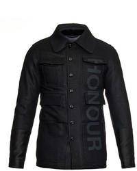 Alexander McQueen Honour Print Wool Pea Coat
