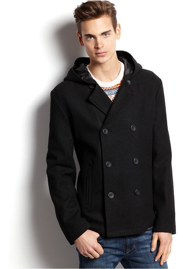 American Rag Jacket Hooded Pea Coat | Where to buy & how to wear