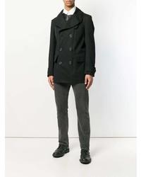 Alexander McQueen Leather Insert Trench Coat