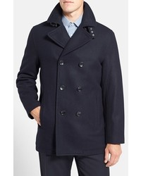 Michl kors wool blend double breasted peacoat medium 350524
