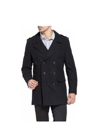 MODERM Ian Wool Blend Rounded Lapel Pea Coat