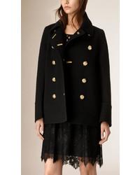 Burberry Regital Detail Cashmere Pea Coat