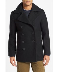 Slim fit wool blend peacoat medium 350528