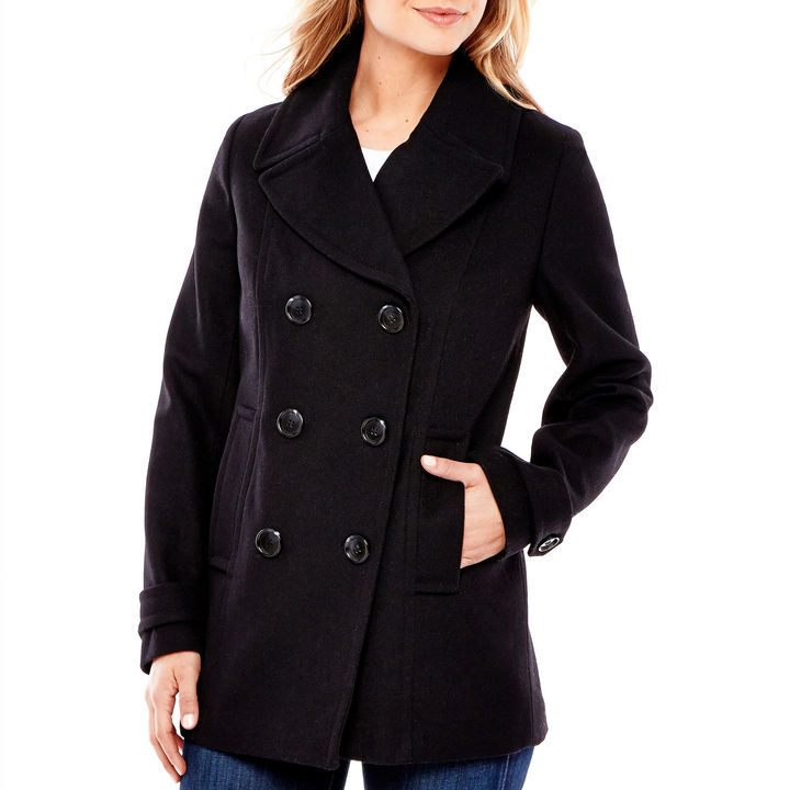 5adadd2f40ee St Johns Bay St Johns Bay Wool Blend Pea Coat Tall