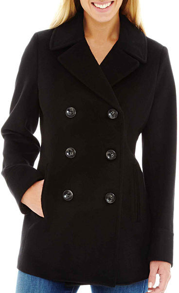 b79b9bc18af2 ... jcpenney St Johns Bay Wool Blend Pea Coat Tall ...