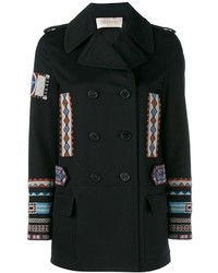 Valentino Embroidered Peacoat