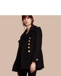 Burberry Wool Blend Military Pea Coat
