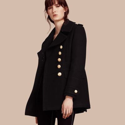best selection of 2019 superior performance shop for genuine $1,595, Burberry Wool Blend Military Pea Coat