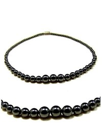 Accents kingdom magnetic hematite 40 100mm black pearl necklace 18 medium 346490