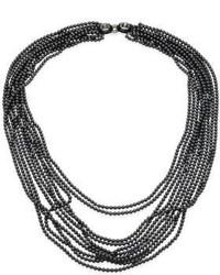 Oscar de la Renta Multi Strand Faux Pearl Necklace