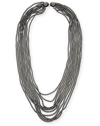 Oscar de la Renta Multi Strand Simulated Pearl Necklace