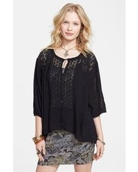 Black peasant blouse original 9703688