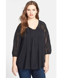 Jessica Simpson Symphony Embroidered Peasant Blouse