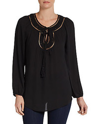 Self tie tassel blouse medium 233572