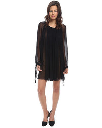Vera Wang Chiffon Long Sleeve Pleasant Dress