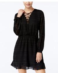 Jessica Simpson Kaylin Lace Up A Line Peasant Dress