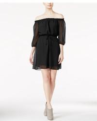 Kensie Off The Shoulder Drawstring Dress