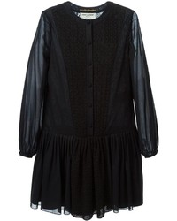 Saint Laurent Macrame Peasant Dress