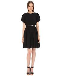 Vera Wang Short Sleeve Pleated Peasant Dress