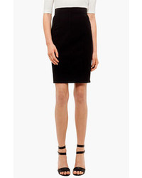 Akris Punto Wool Pencil Skirt Black 16