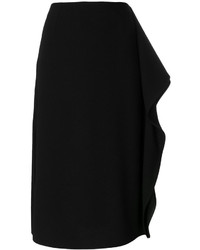 Marni Asymmetric Frill Pencil Skirt