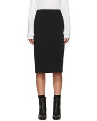 Helmut Lang Black Neoprene Scura Skirt