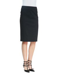 RED Valentino Cady Tech Pencil Skirt Black