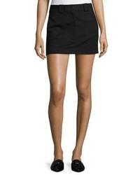 Helmut Lang Cotton Stretch Mini Skirt Black