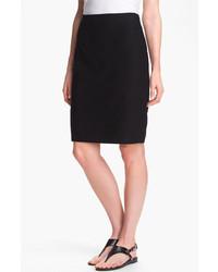 Eileen Fisher Knit Pencil Skirt Black Medium P