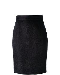 Moschino Vintage Jacquard Pencil Skirt