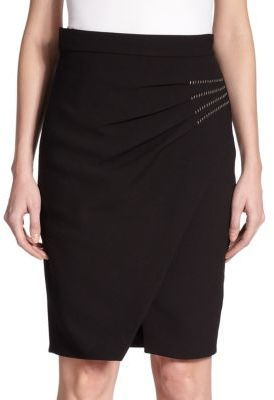L'Agence Karen Pleated Wrap Pencil Skirt | Where to buy & how to wear