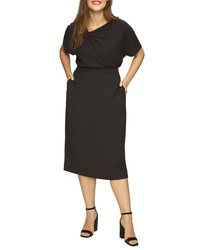 Universal Standard Luxe Twill Pencil Skirt