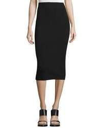 Michael Kors Michl Kors High Waist Midi Pencil Skirt Black