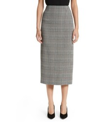 Prince of wales high waist pencil skirt medium 5170192