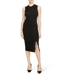 Rachel Roy Collection Ribbed Lace Up Pencil Skirt