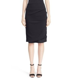 Eleventy Ruched Cady Pencil Skirt