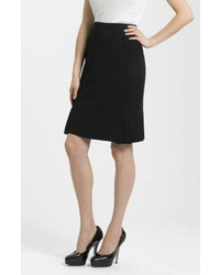 Ming Wang Side Pleat Knit Skirt