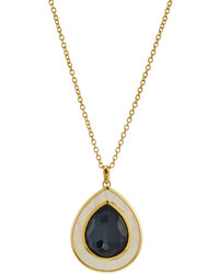 Ippolita 18k Ondine Hematite Mother Of Pearl Pendant Necklace