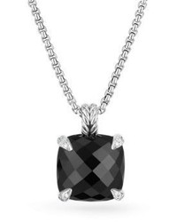 David Yurman Chatelaine Pendant Necklace With Black Onyx And Diamonds