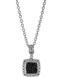 John Hardy Classic Chain Medium Pave Black Sapphire Pendant