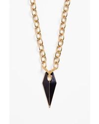 Rebecca Minkoff Enamel Core Blade Pendant Necklace