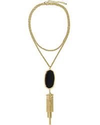 Kendra Scott Rayne Pendant Necklace Black
